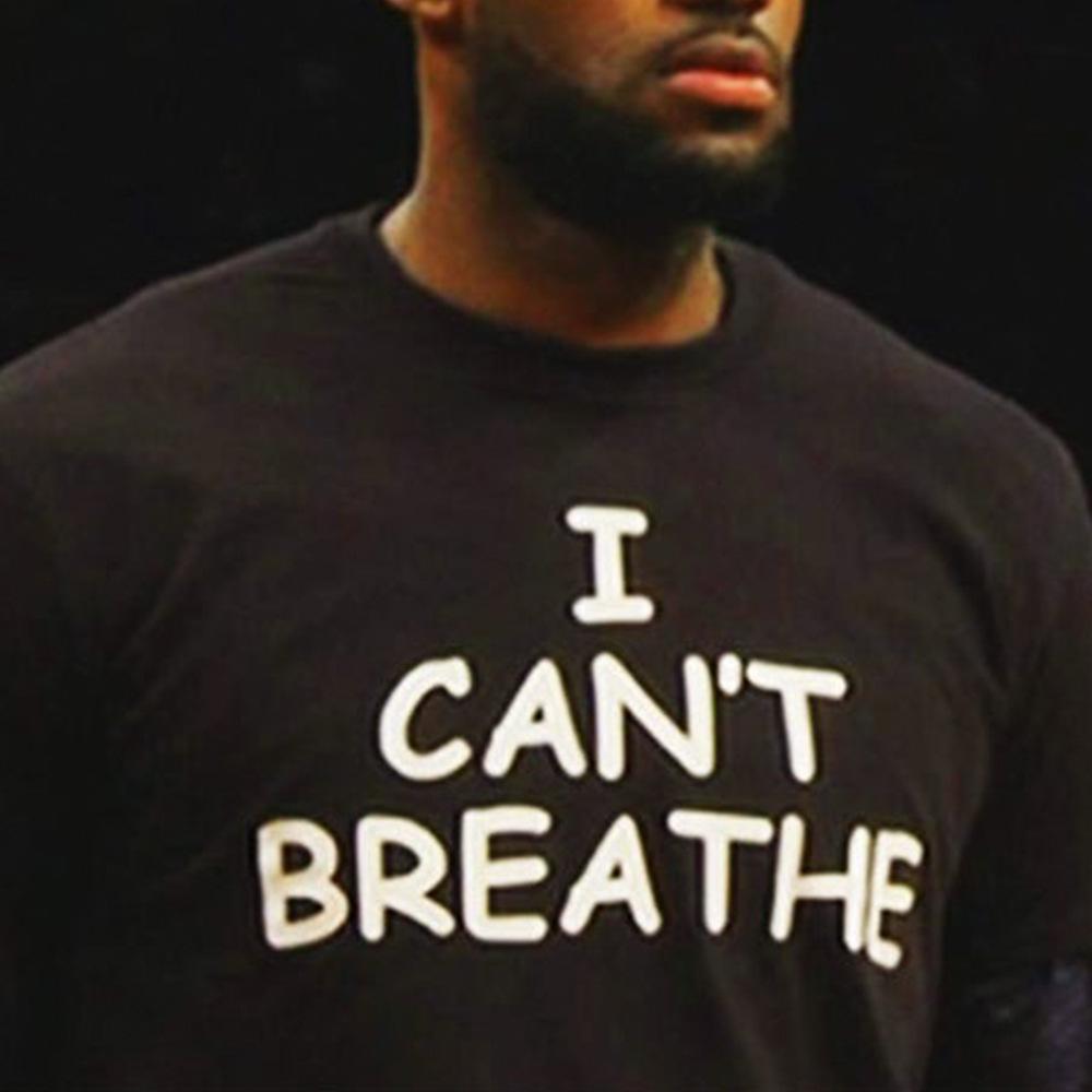 Non posso Breath Lettera maglietta stampata non riesco a respirare via t-shirt shirt diritti civili manica corta HFWPTX413
