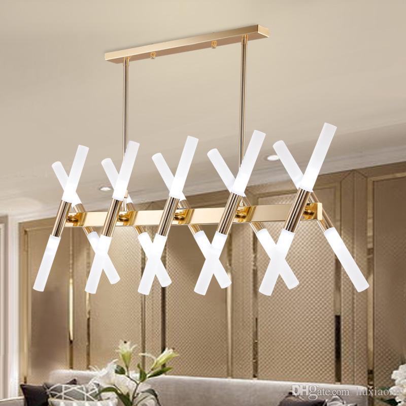 16 braço américa estilo led lâmpada pingente luz ouro cores ferramentas acrílicas shade g9 3w droplight sala de estar cafe bar