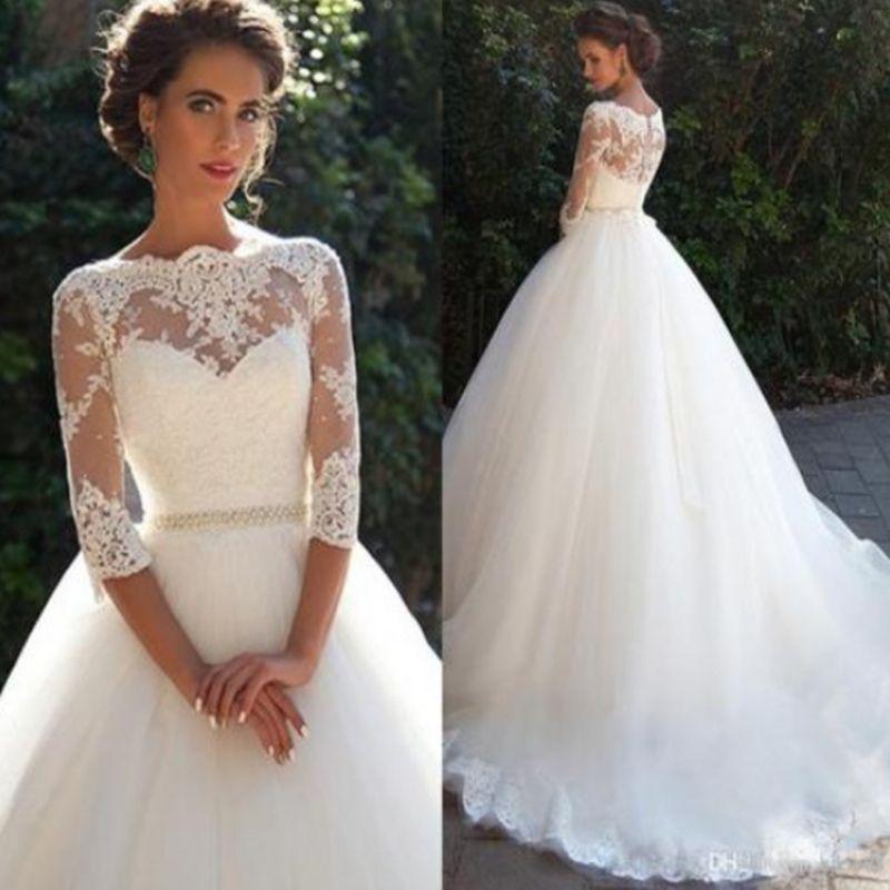 vestido de Noiva cattedrale treno abito da sposa Sweetheart maniche ad aletta scintillante abito da sposa backless sirena perline corpetto