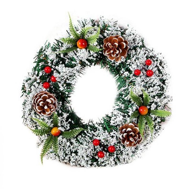 Navidad de la guirnalda de flores artificiales Puerta de alta calidad artificial Garland para la decoración del partido del hogar de la decoración