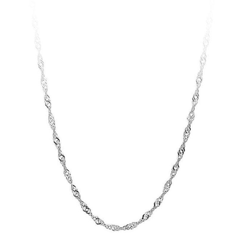 Silberne Halskette Kette Wasser-Welle-Ketten-Frauen Halsketten-Kette Schmuck Zubehör wird und Sandy-Tropfen-Schiff