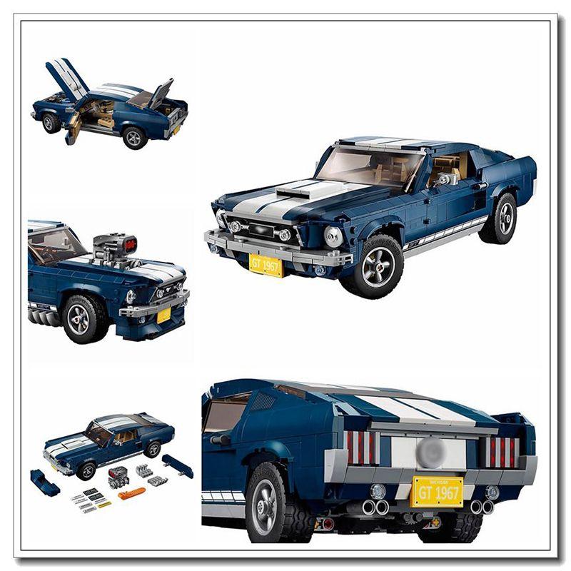 في المخزون فورد موستانج 10265 متوافق الخالق الخبراء بناء كتل الطوب اللعب الهدايا للأطفال للأطفال