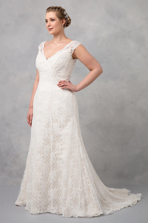 Oleg Cassini Plus Size Wedding Dresses V Back Lace Applique Backless Sweep  Train West Country Wedding Dresses Custom Made Boho Bridal Gowns Mermaid ...