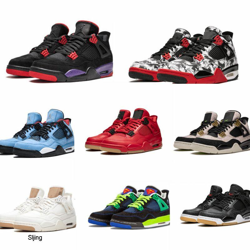 Ultra Classic Cool Red Bred 4 4s IV basketball shoes Monsoon Blue GS FIBA UNC Mushroom Cement Thunder Raptors Black Laser Royal men sneakers