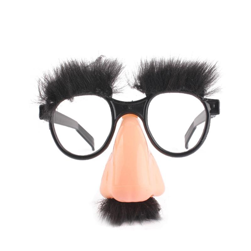 New Mask Cute Black Big Nose Funny Glasses Halloween Mask Children Halloween Party Props Half Face Mask