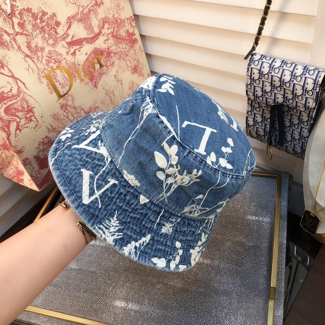 Europe America NEW designer hats caps men classic fashion bucket hat men Denim linen material wild style Foldable two color mens women BB029