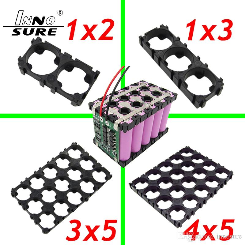1x2 1x3 3x5 4x5 18650 Lithium Li-ion Battery Pack Spacer Shell Holder Bracket Buckle Connector Stitching for Radiating Series Parallel PCB