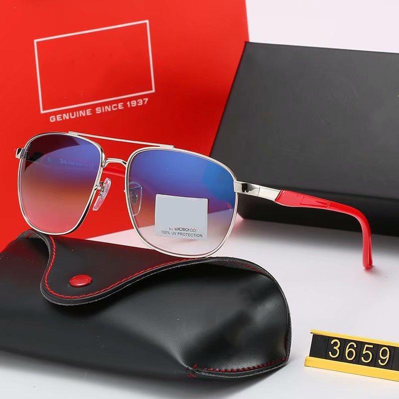 I nuovi occhiali da sole polarizzati moda pilota per guidatore donne degli uomini di vetro di Sun struttura in metallo a specchio polaroid lente in vetro con casi e scatola 3659F