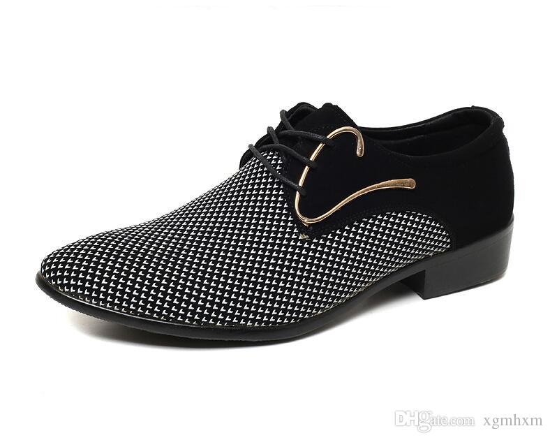 Cheapest mens dress shoes Pointed toe mens Oxfords wedding business white blue shoes lace up mens fashion flats 1a32