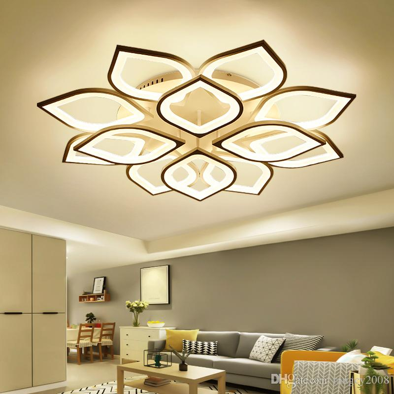 Modern Acrylic Led Ceiling Chandelier With Remote Control Living Room Bedroom Lamp Light Fixtures Decoration Home Lighting 110-220V
