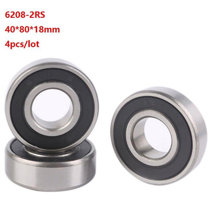 30x62x16 mm 6206-2RS Rubber Sealed Ball Bearing Set 6206RS 25 PCS BLACK
