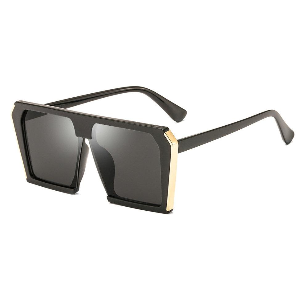 Atacado Designer de Marca Oversized Óculos De Sol Das Mulheres Grande Quadro Transparente Quadrados Shades Gradiente Do Vintage Óculos de Sol Feminino UV400 NX