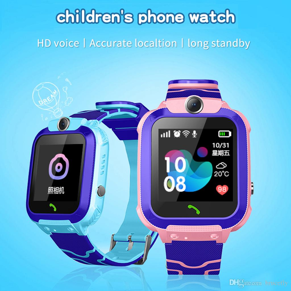 Q12B Children's Smart Watch Android Insert Card 2G Waterproof Remote GPS Locator Camera Call Anti-lost Smart Wristband For Kids