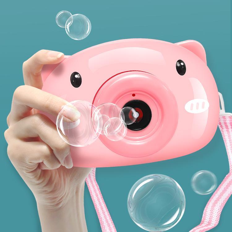 Bubbles Machine Cartoon Pig Bubble Camera Toys Soap Bubbles Gun Toys for Kids Bubbles Set Outdoor Automatic Bubble Maker Kids Gift