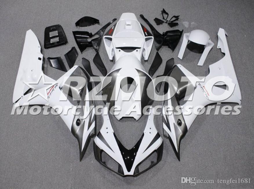 Yeni ABS Kalafatlama Setleri HONDA CBR1000RR için uygun Sıcak satış 2006 2007 06 07 CBR1000RR Kaporta Ücretsiz özel Beyaz Koyu gri set