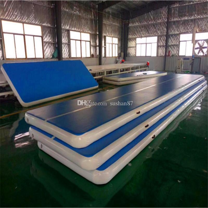 Бесплатная доставка 400x100x20 см надувные воздушные дорожки воздушные коврики гимнастика черлидинг коврик трюк площадку для домашнего использования