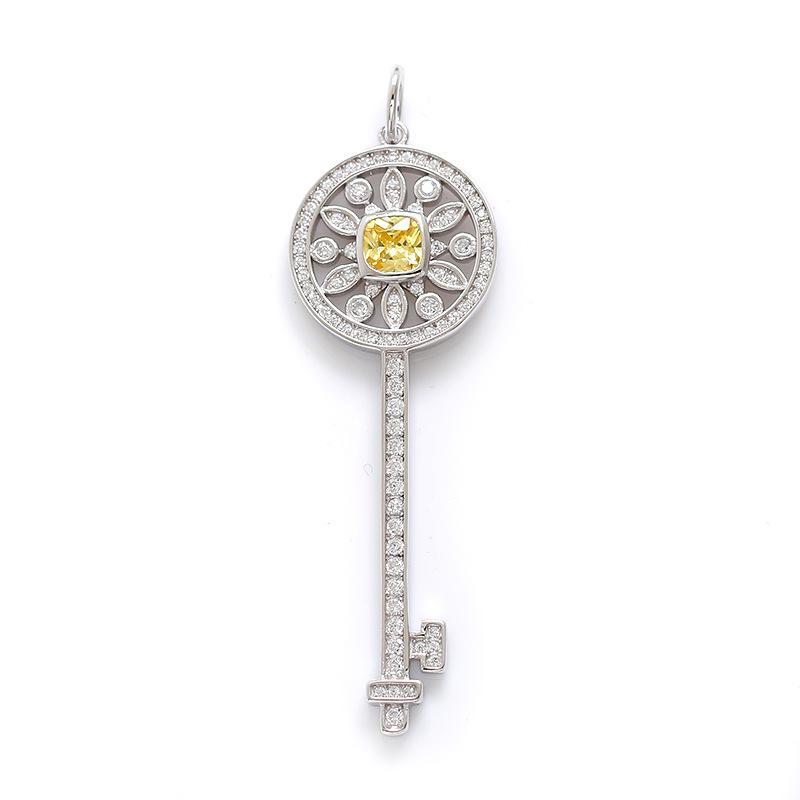S925 Sterling Silber Keys Petals Schlüsselanhänger Halskette mit Diamanten 100% 925 Silber Halsketten Best Valentines Geschenk für Frauen 5 Designs
