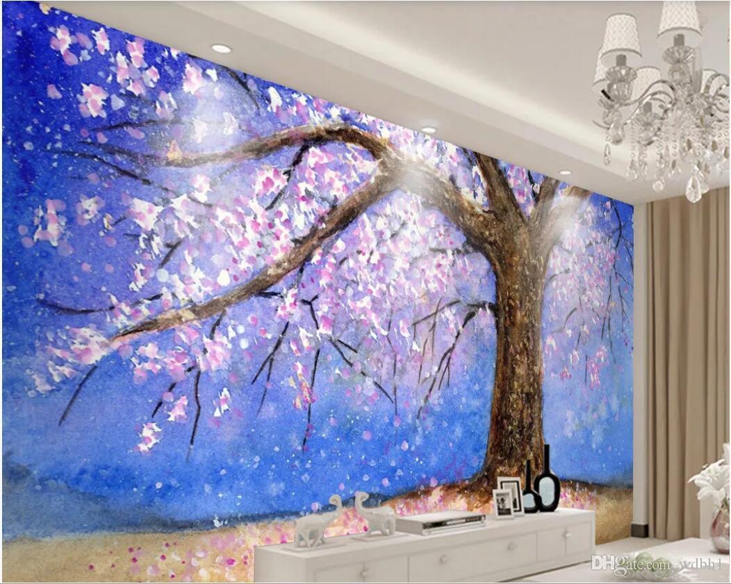 3d Room Wallpaper Custom Photo Mural Vintage Peach Tree Peach