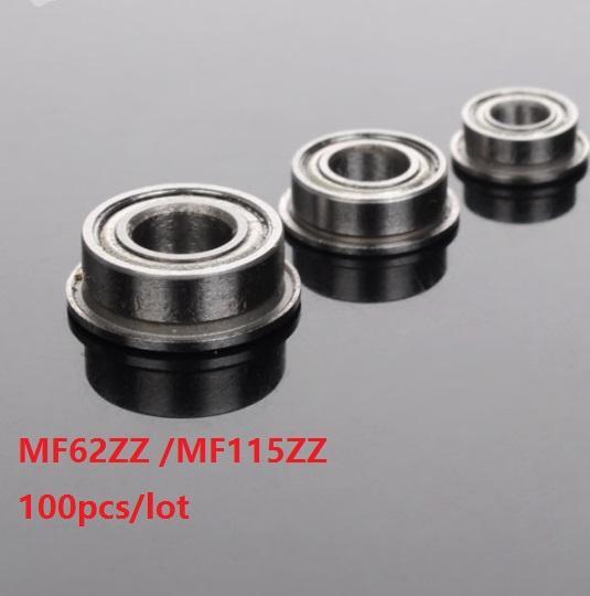 10 PCS Miniature Metal Bearing Flanged Ball Bearing MF115ZZ 5x11x4mm