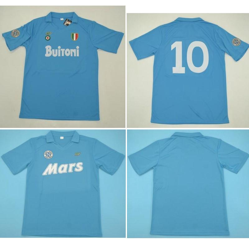 Top 87 88 89 Napoli Retro Maillots MARADONA Soccer Jersey 1987 1988 1989 Naples Football Shirt VINTAGE CLASSIC maillot de pied