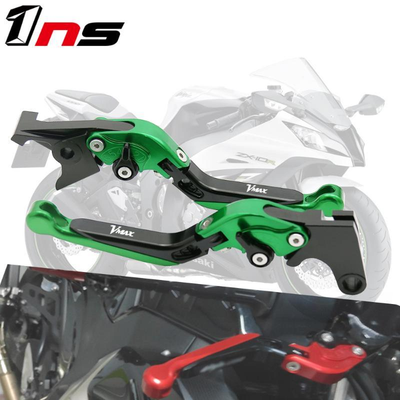 Folding Extendable CNC aluminum Motorcycle Brake Clutch Lever Adjustable For YAMAHA V-MAX VMAX 2009-2018