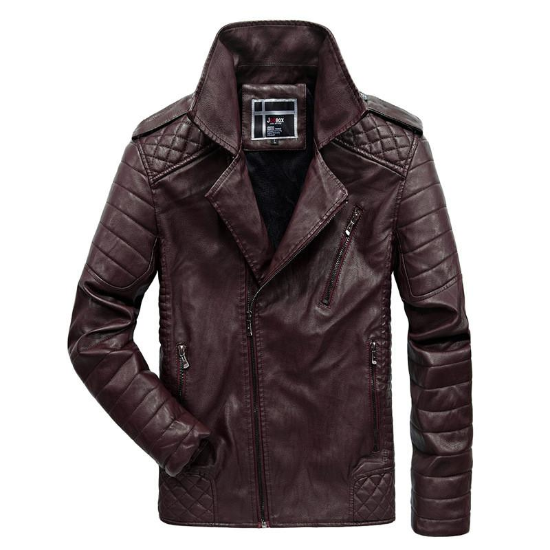Baseball Jackets Men Letter Stand Collar Pu Leather Coats Plus Size 6XL Fleece Pilot Leather Jacket hombre