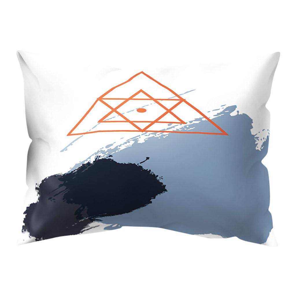 Bohemian Kissen Brown Kissenbezug Dekorative Weinlese Kissenbezug Geometric Kopfkissenbezug für Sofa Pillowcase 30 * 50