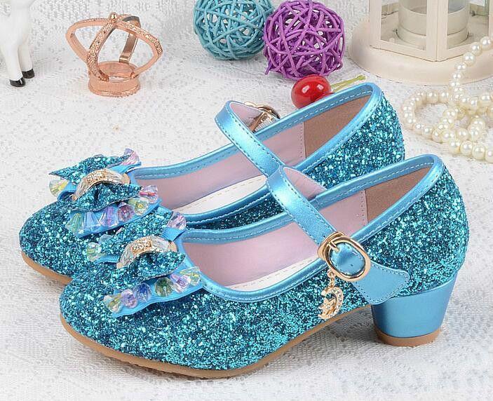 Promoção Crianças Princesa Pérola Beading Sandálias Crianças Flor Sapatos de Casamento Sapatos De Salto Alto Sapatos de Festa Para Meninas Rosa