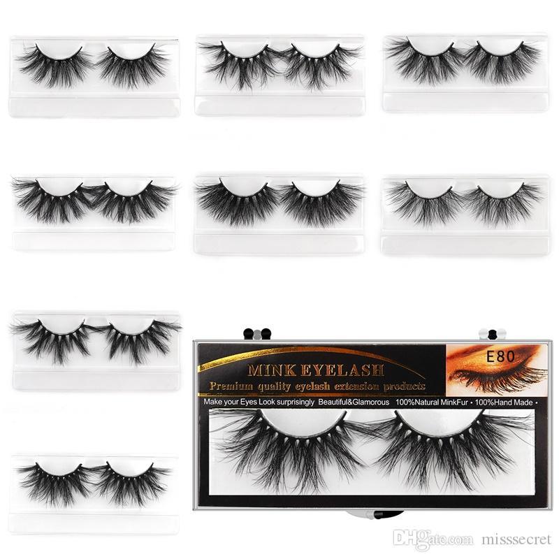 25MM Vizon Kirpikleri 3D Mink Kirpik Kirpik Uzatma Vizon Kirpikler Kalın Uzun Dramatik Yanlış Göz Lashes Makyaj maquillage 5d