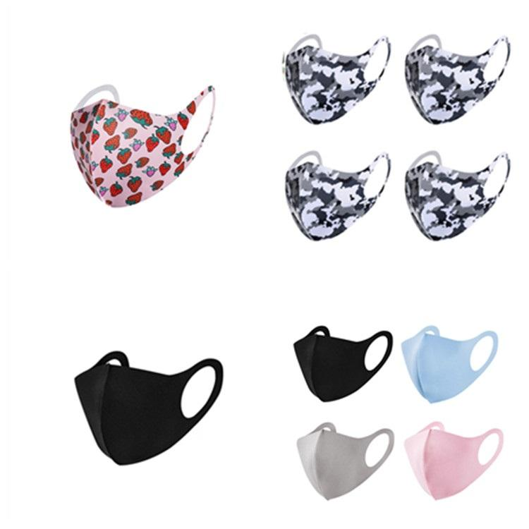 nouvelle couleur unie camouflage masque facial stéréoscopiques réutilisable masque facial masques anti-poussière lavable cyclisme masque Designer DHA272