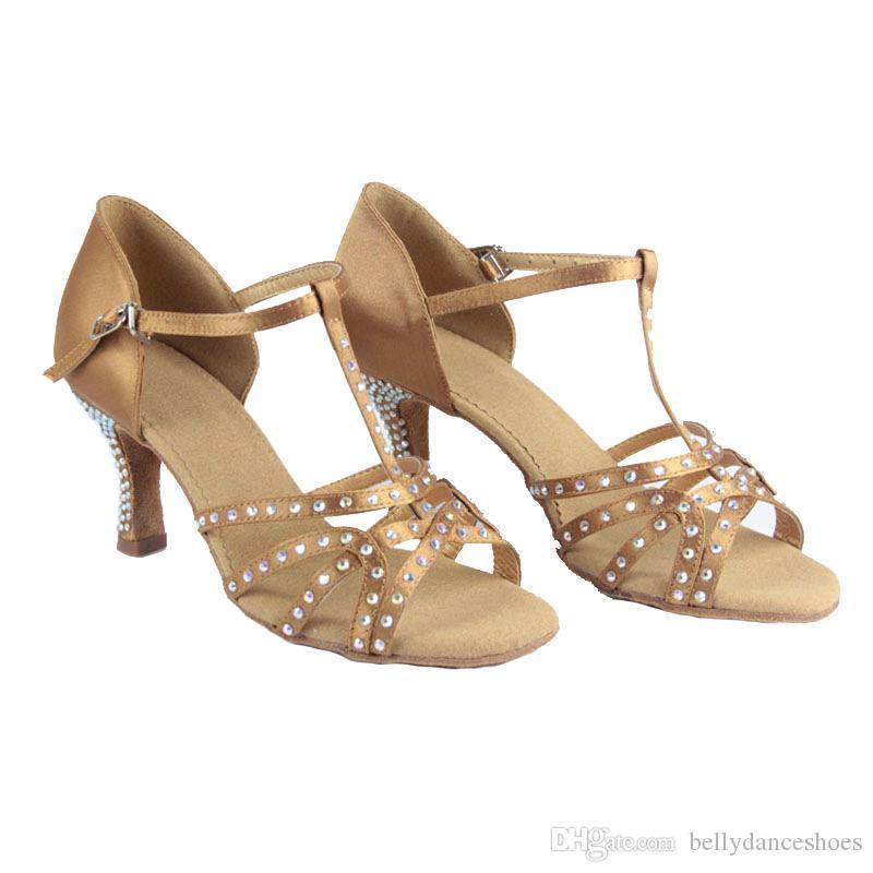 XSG chaussures de danse de diamants Livraison gratuite chaussures fond mou latine adulte femme femmes danse latine portent des chaussures de danse de salon carré personnalisé sexe