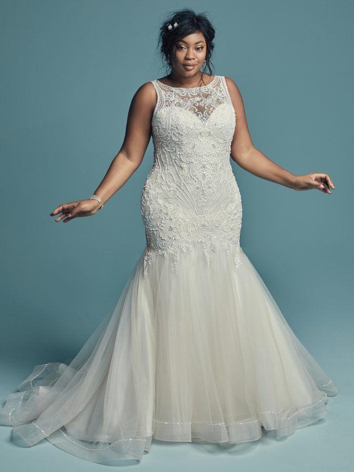 Newest Beaded Mermaid Wedding Dresses 2019 Ivory Appliques Sheath Boho  Bridal Gown Plus Size Beach Wedding Dress Custom Made Mermaid Wedding  Dresses ...