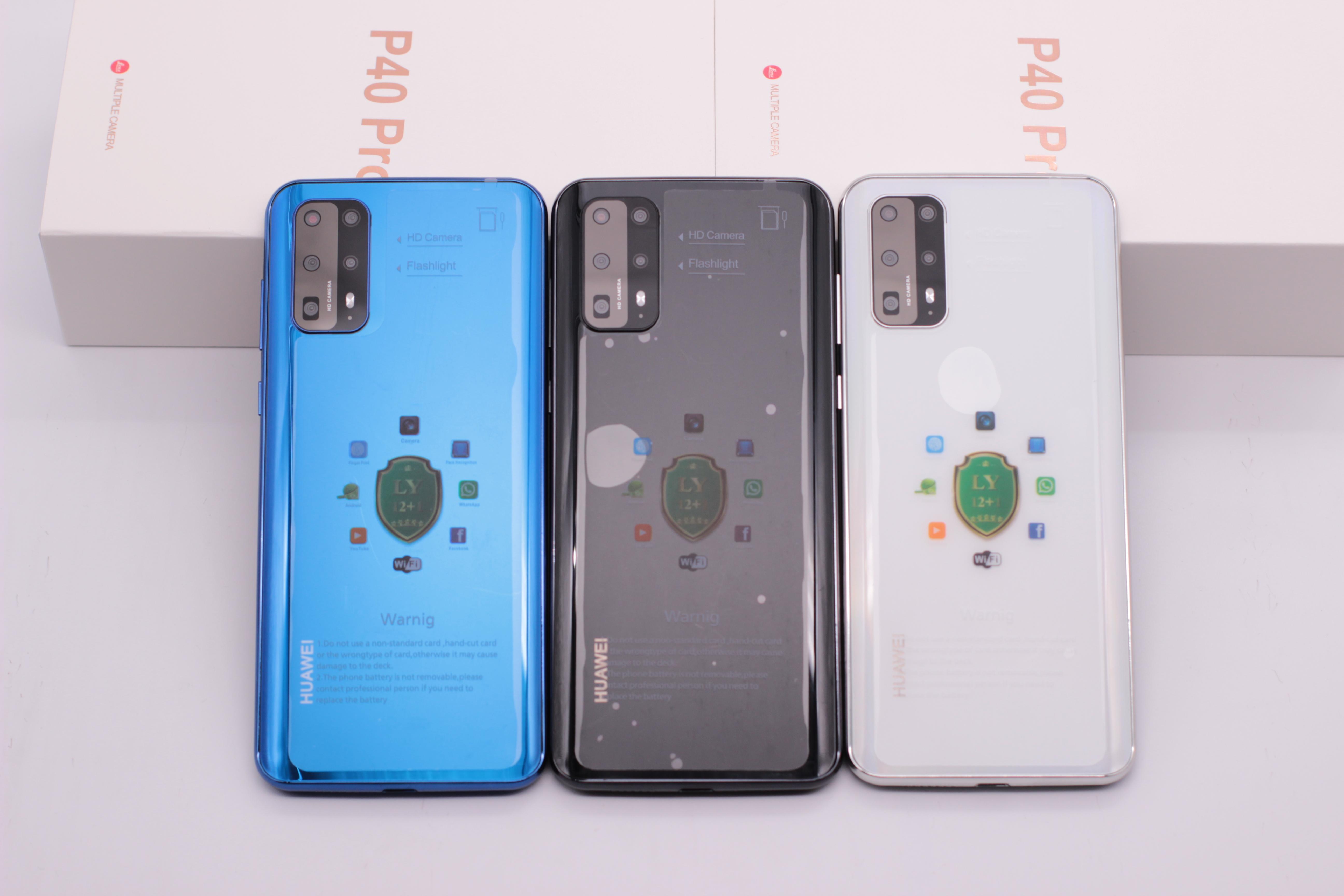 Goophone P40 프로 휴대 전화 6.58inch 스마트 폰의 3G 휴대 전화 WCDMA 쿼드 코어 MTK6580 1기가바이트 8기가바이트 GPS 표시 가짜 4G LTE