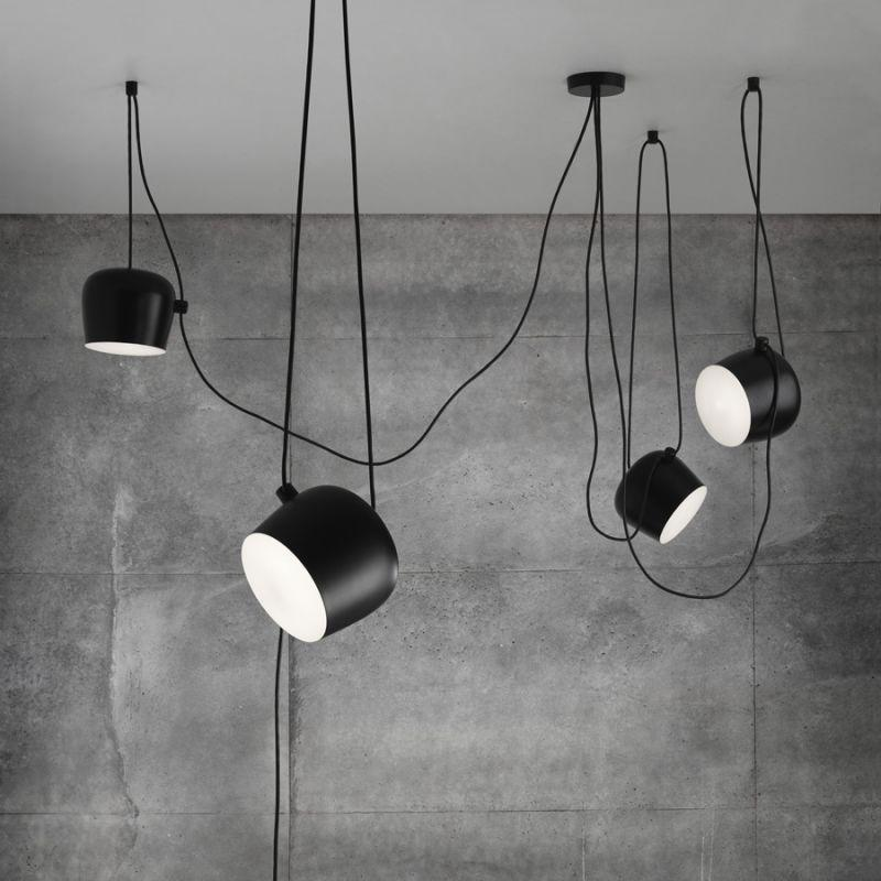Moderm AIM Creative Lustres lumière Pendant avec couvercle acrylique Noir Lustre Hôtel Home Salon Livraison gratuite PA0051
