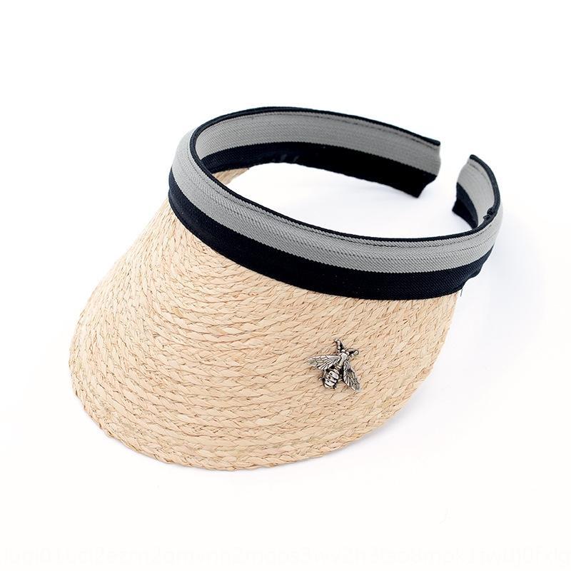 tejido de paja sombrero para el sol deportes vacaciones en la playa del casquillo del sombrero de paja vacío lafite mano