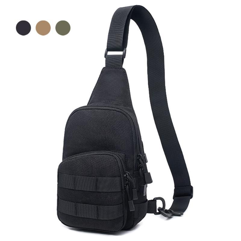 1000D Tactical Shoulder Bag Portable Man Chest Crossbody Bag Outdoor Utility Backpack for Hunting Camping Climbing