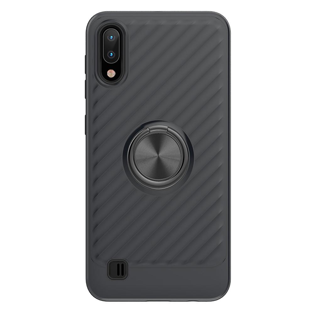 Pour Samsung A10E J7 A40 Note8 9 M30 A9 antichocs Anneau de protection Rotation Porte doigt Béquille Commander Anti-Scratch Phone Case Cover