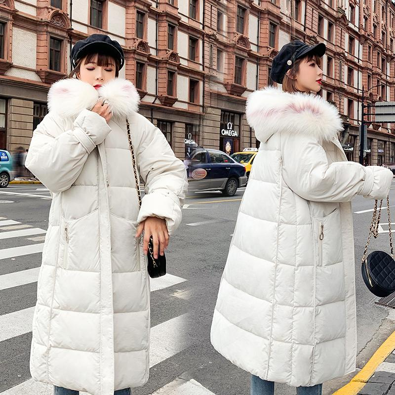 Womens Winter Jackets And Coats Nice Parkas For Women 3 Colors Wadded Jackets Warm Outwear With A Hood Large Faux Fur Collar T191030