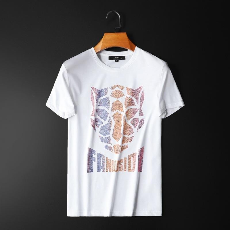 Pares del verano que basa el cuello redondo manga corta T-shirtVCO9