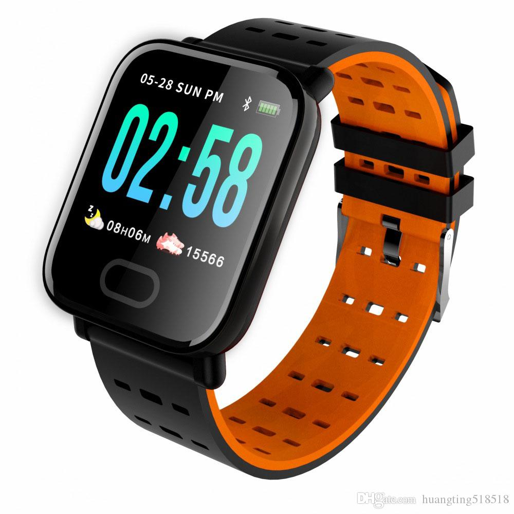 Android IOS için su geçirmez Bluetooth Smart İzle Spor Band Nabız Kan Monitörü Spor Tracker Uyku Monitör