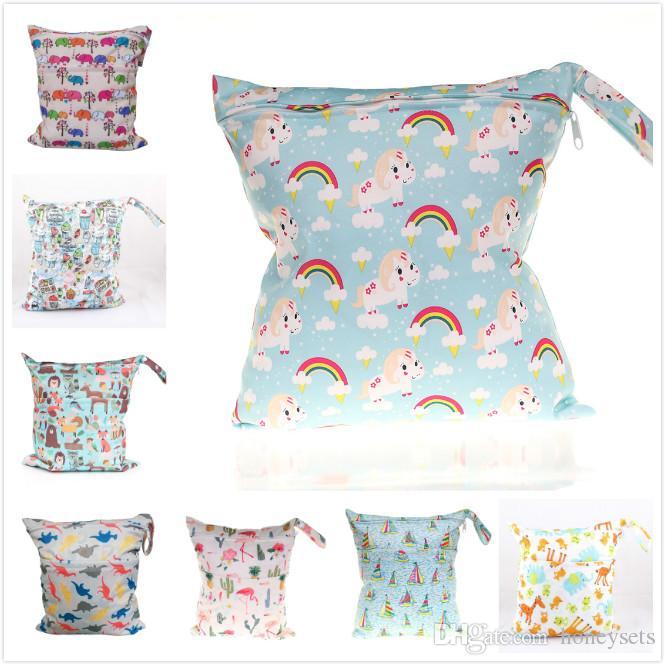 Waterproof Wet Baby Bag Infant Dry Multi Zipper Hot Reusable Cloth Nappy Diaper