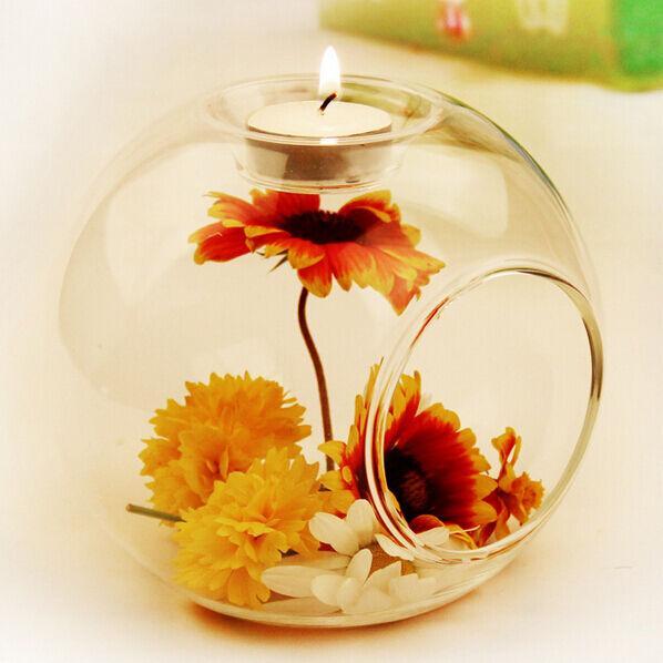 Романтический свадебный ужин декор хрустальное стекло подвесной подсвечник подсвечник