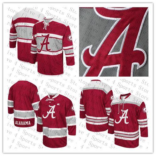 Özel Koleji Alabama Crimson Tide Buz Hokeyi 96 Caelen Briere 9 Taylor Bowman 17 Michael DeLise 98 Marc Demers 88 Andrew Durkin Forması Kırmızı