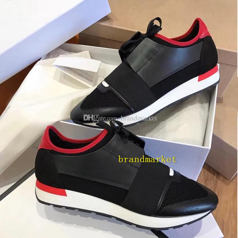 New Drop Shipping chaussure femme Fashion Designer Casual Shoe Man Woman Race Runner Sneaker Mixed Colors Red White Mesh Trainer Shoes
