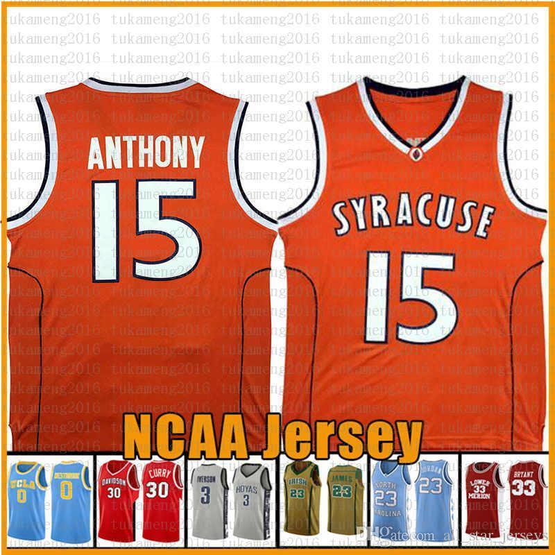 착용 오렌지 12 De'andre Virginia Cavaliers Hunter Carmelo 15 Anthony Syracuse 농구 저지 NCAA University 21 Rui Gonzaga Bulldogs Hach