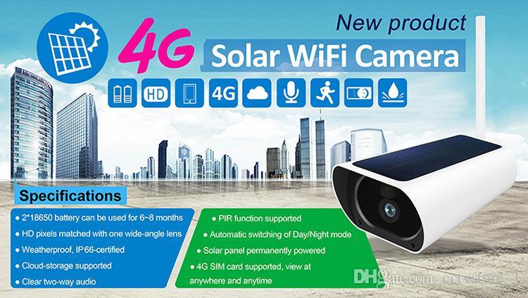 1080P 4G énergie solaire IP CCTV réseau sans fil étanche batterie de l'appareil 4G maison en plein air non compris