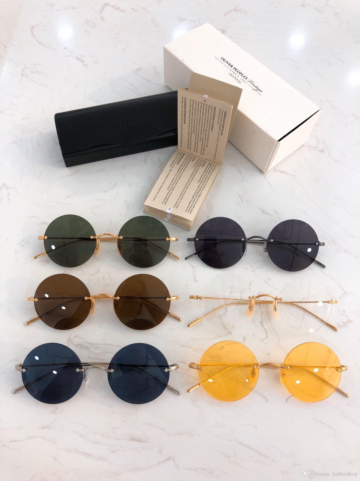 Oliver People OV1222 Brand Designer Round Metal Sunglasses Men Women Steampunk Fashion Glasses Retro Vintage Sun glasses
