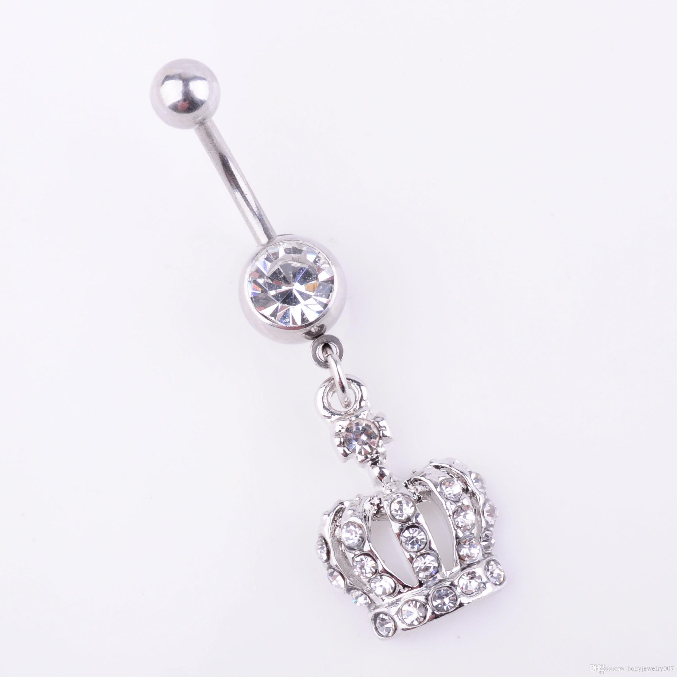 clear belly button ring