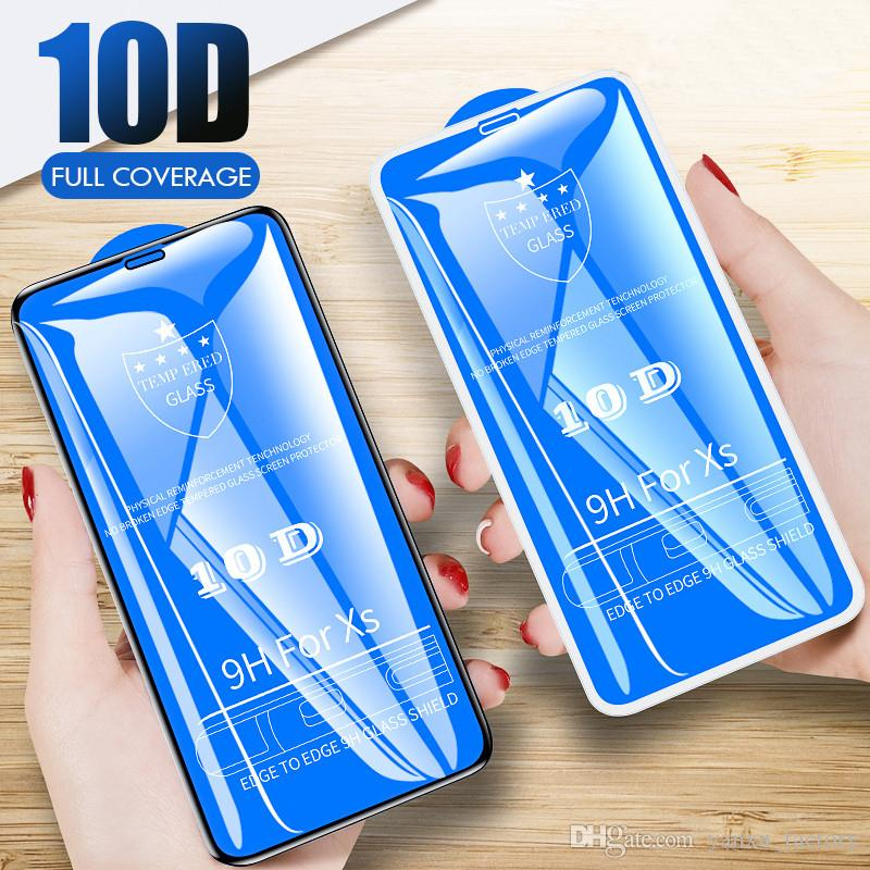 10D Protective Glass For iPhone 12 6 6S 7 8 Plus X XS Glass Screen Protector For iPhone 11 Pro Max 12Mini SE2 X XR XS MAX Screen Protector