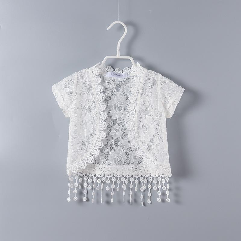 New Summer Girls Bolero Baby Kids Lace Cardigan Girls Short Jacket Fashion Children Clothing
